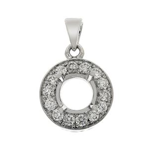 Picture of Pave set round center with prongs pendant