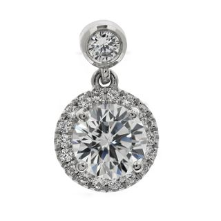Picture of Round outline with diamond bail pendant