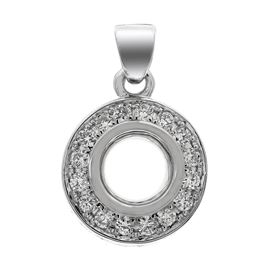 Picture of Bezel set pendant round center with bail