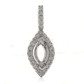 Picture of Marquise outline with diamond bail pendant