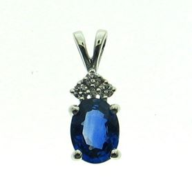 Picture of Oval center pendant with double bail