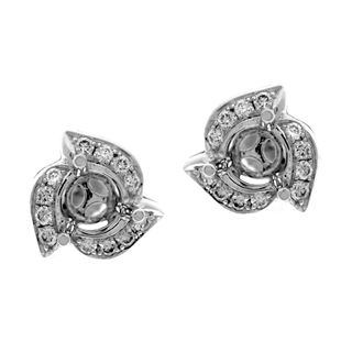 Picture of Pave set round center earrings