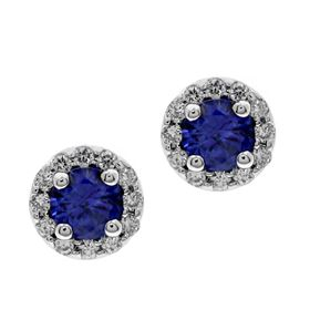 Picture of 2 bead round outline round center earrings
