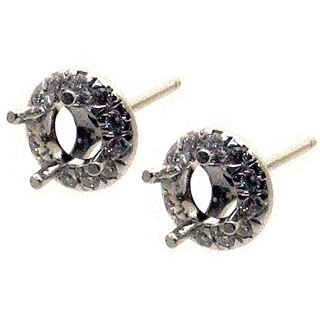 Picture of Split prong round outline earrings