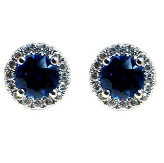 Picture of Round outline round center 4 bead earrings
