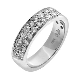 Picture of 2 bead two row pave set band half way