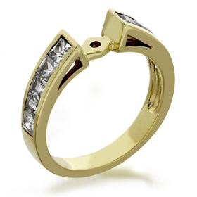 Picture of Open center channel set princess cut stones
