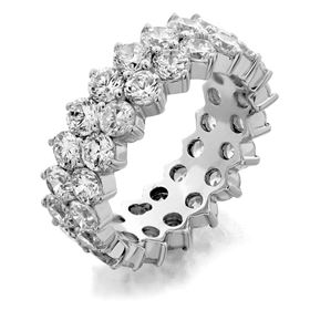 Picture of Two row shared prong eternity band 2