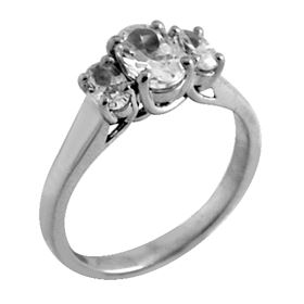 Picture of Three stone trellis ring with oval stones