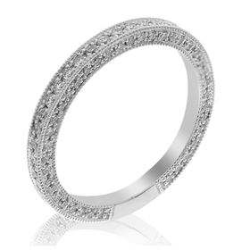 Picture of Pave set diamonds on the side eternity band