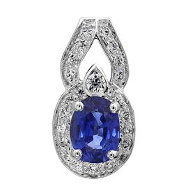 Picture of Oval outline oval center pendant with diamond bail