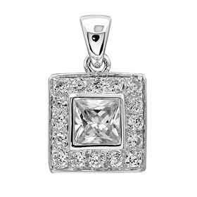 Picture of Square outline square center pendant with bail