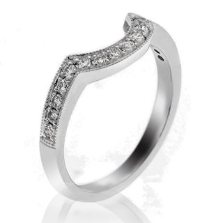 Picture of Matching curved band pave set