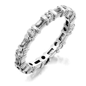 Picture of Bar set round and baguette cut stones eternity band