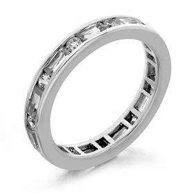 Picture of Channel set round and baguette cut eternity band