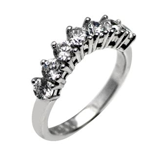 Picture of 5 and 7 stones curved band double prong