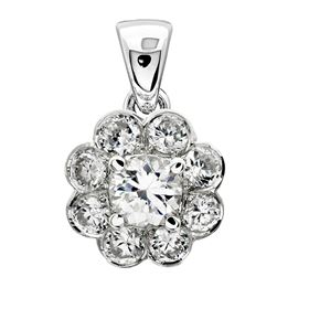 Picture of Bezel set pendant with four prong center