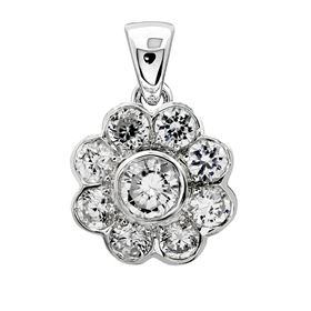 Picture of Bezel set pendant with round center stone