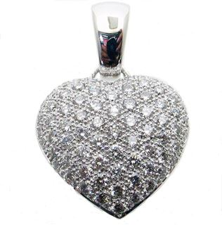 Picture of Heart shape pendant with metal bail