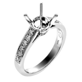 Picture of Solitaire with accents one row pave set 1