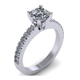 Picture of Solitaire with accents one row pre-set pave