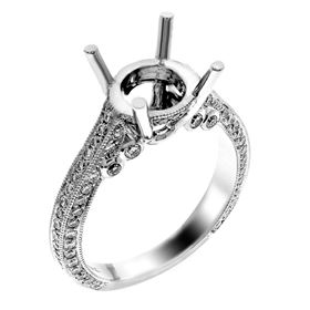 Picture of Solitaire with accents three row pave set 2
