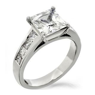 Picture of Solitaire with accents channel set princess cut