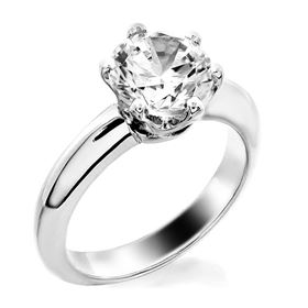 Picture of Basket style 6 prong head solitaire ring