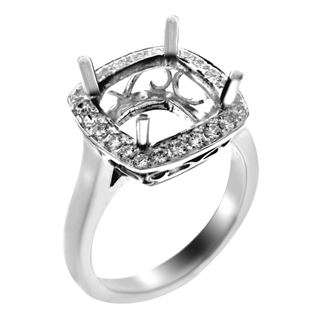 Picture of Halo ring with pave set halo and filigree
