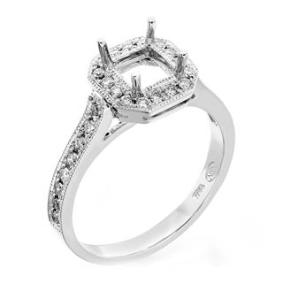 Picture of Halo ring flush fit square outline square center