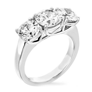 Picture of Trellis three stone ring same size round stones