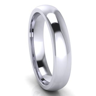 Picture of 4.0mm Platinum Half Round Comfort Fit Band
