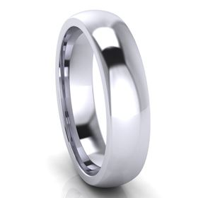 Picture of 5.0mm Platinum Half Round Comfort Fit Band
