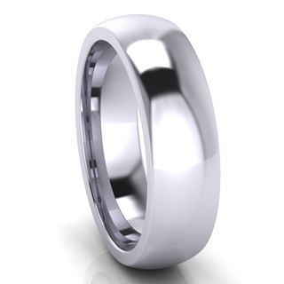 Picture of 6.0mm Platinum Half Round Comfort Fit Band