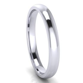 Picture of 2.5mm Platinum Half Round Comfort Fit Band
