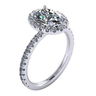 Picture of Oval outline halo split prong 1