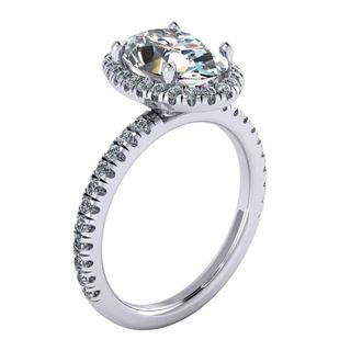 Picture of Oval outline halo split prong 2