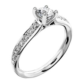 Picture of Solitaire with accents one row pave set 2