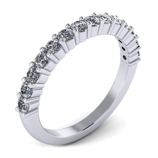 Picture of Shared prong half way wedding band