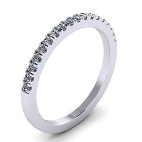 Picture of Split prong half way wedding band 3